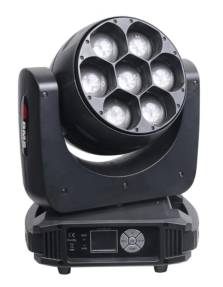 7x40 4-in-1 zoom wash moving head led
